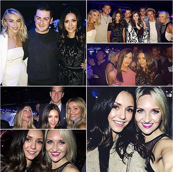 """06/02/16 - Nina était présente à l'évènement """"DirecTV Super Saturday Night,"""" à San Francisco.  Nina s'est rendue à cet évènement avec son bon groupe d'amis, Riawna, Lauren, Julianne, Derek, Ash et plusieurs autres."""