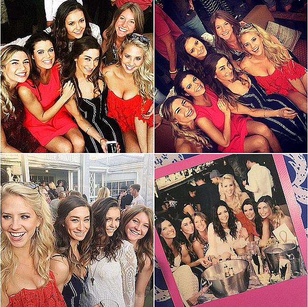 Nina est allée avec ses amis au bar The Bungalow à Santa Monica ce 14 février 2015.