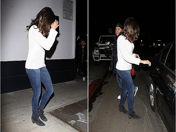 16/02/16 - Nina a été vue avec Chace Crawford et un ami près du bar Villa Lounge, à Los Angeles.  Dans la même soirée, Nina, Chace et son ami se sont rendus à la boîte de nuit Bootsy Bellows qui est aussi à Los Angeles.