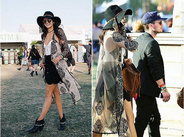 16/04/16 - Nina s'est rendue au 2ème jour du festival « Coachella Valley Music & Arts », à Indio.  Elle a été aperçue en compagnie de Josh Hutcherson mais a passé sa journée avec son amie Ash Dragon et d'autres amis.