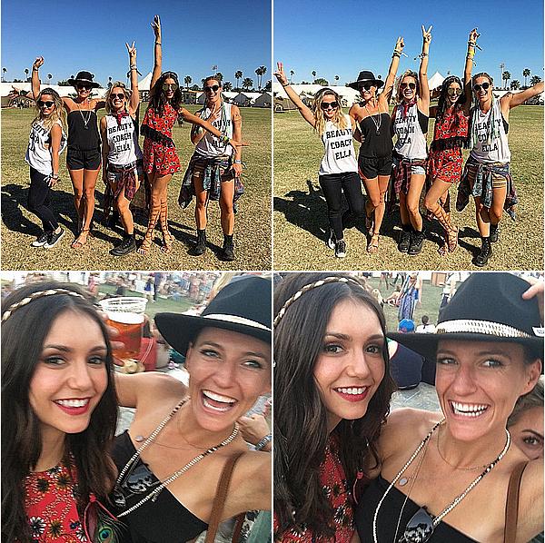 Nina est allée avec Ash au 3ème jour du festival de musique Coachella ce 17 avril 2016.
