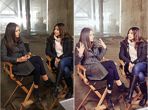 Nina a réalisé une interview pour ET Canada sur le tournage de xXx 3 ce 25 avril 2015.