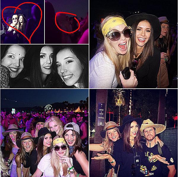 Nina s'est rendue au deuxième week-end du festival Coachella à Indio ce 23 avril 2016.