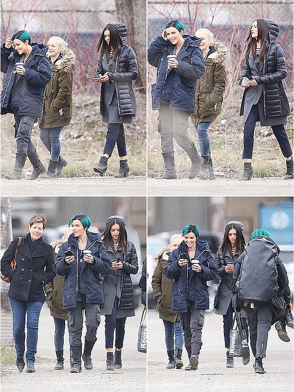 Nina a été vue sur le tournage du film xXx 3 avec sa co-star Ruby Rose ce 21 avril 2015.