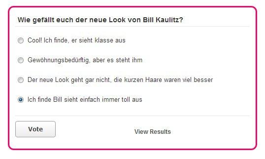 VON KURZ ZU LANG Bill Kaulitz überrascht mit neuer Haarpracht - DE COURT A LONG Bill Kaulitz surprend avec ses nouveaux cheveux