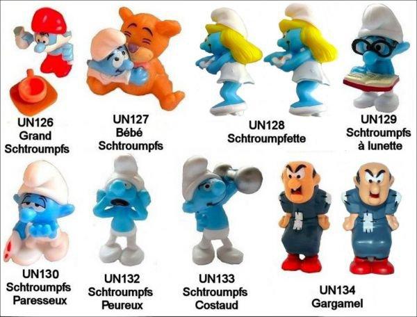 Les Schtroumpfs UN126 à UN134 - 2010-2011