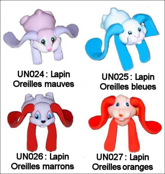 Lapins grandes oreilles UN024 à UN027 - 2010-2011
