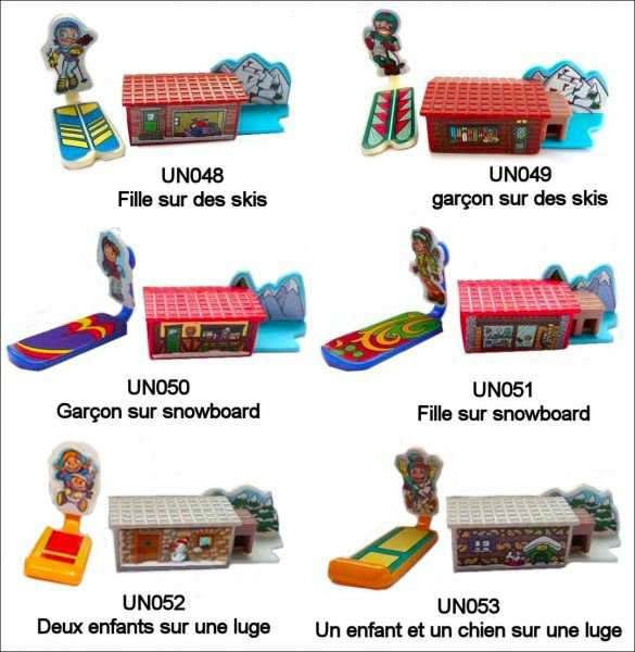 Skieurs - UN048 à UN053 - 2010-2011