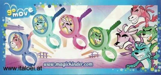Kinder Joy - Jeu de lancer - TR309A à TR309D - 2013