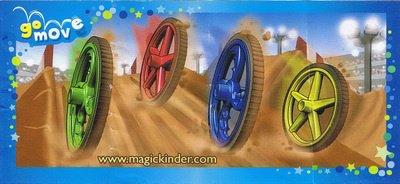 Kinder Joy - Roues - TR320A à TR321B - 2013