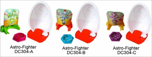 Astro-Fighter - Kinder Joy Go Move DC304-A, DC304-B, DC304-C - 2013