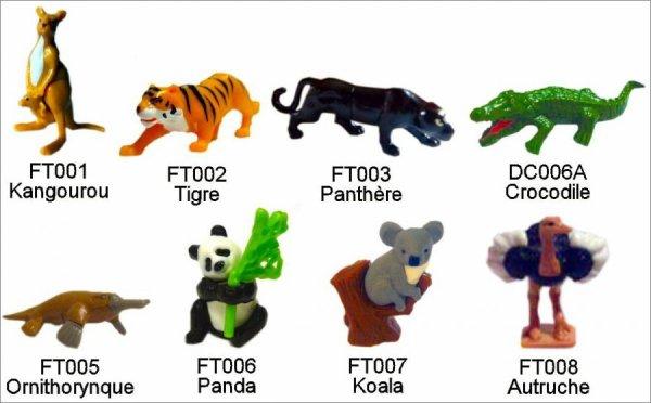 Animaux du monde - Kinder Natoons - FT001 à FT008, DC006A