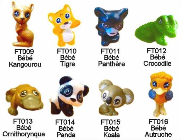 Bébés animaux du monde - kinder Natoons - FT009 à FT016