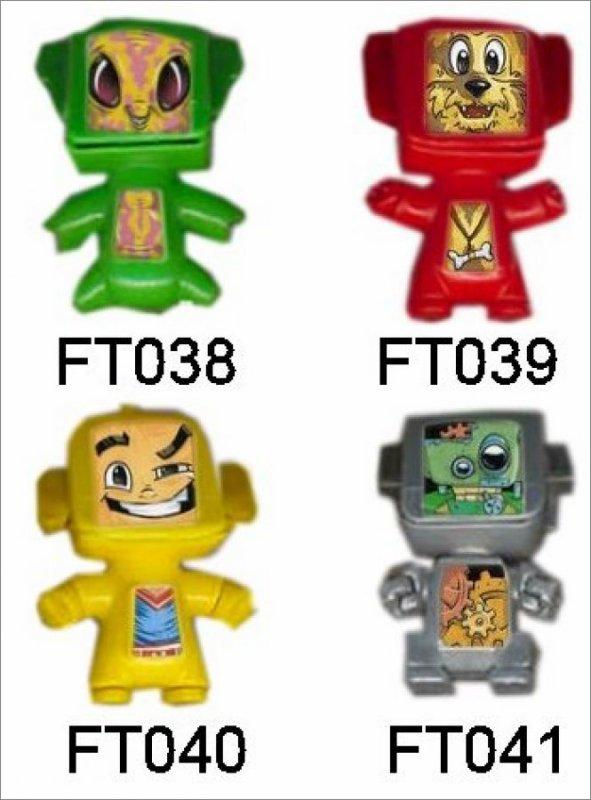 Robots - Kinder Mixart - FT038 à FT041