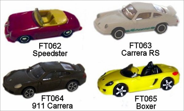 Porsche - kinder suprise - 2013 - FT062 à FT065