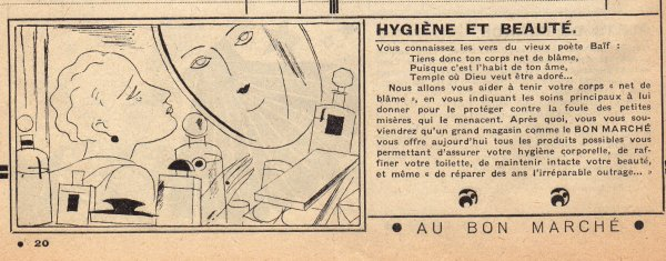 CATALOGUE BON MARCHÉ 1930 , 7 janvier