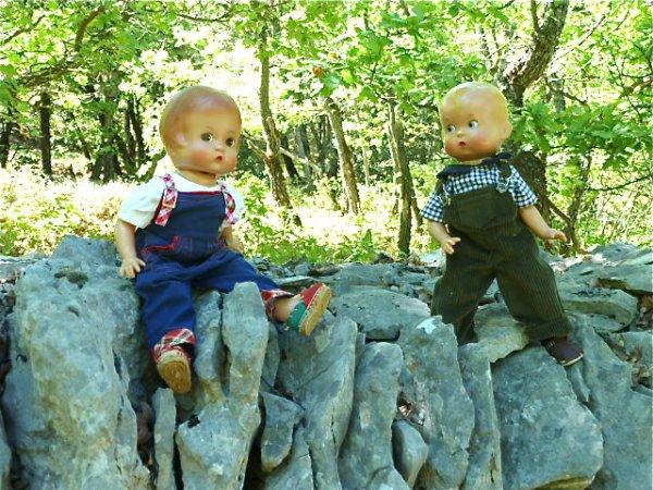 Patsy et Skippy au pays des pierres sèches.
