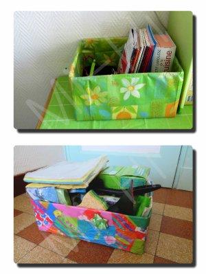 Cartons relookés pour le rangement