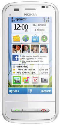 Nokia C6 White Unlocked