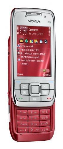 Nokia E66 Red Steel Unlocked