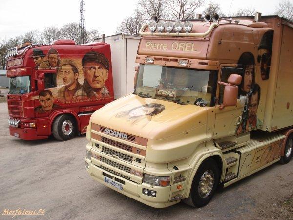 ... des camions décorés ...
