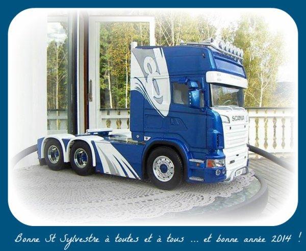 Voilà , c'est sur ce superbe Scania radiocommandé ( vu sur le net ) que s'achève cette année 2013 alors ...