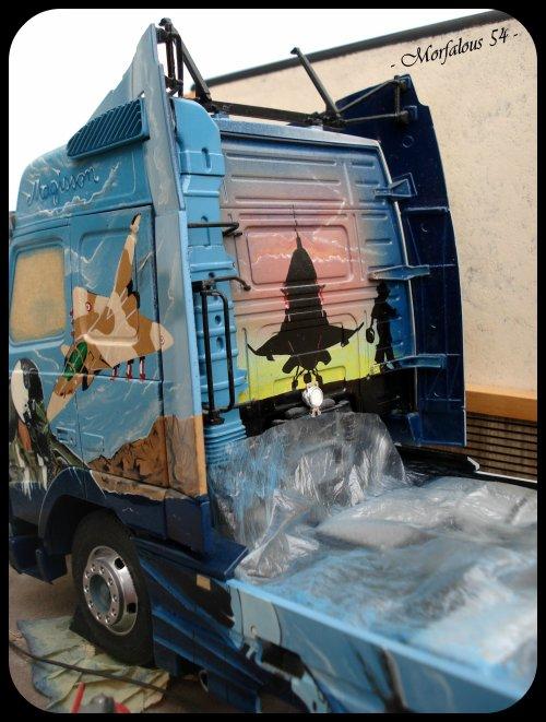... et mon Volvo FH en cours de peinture pour finir