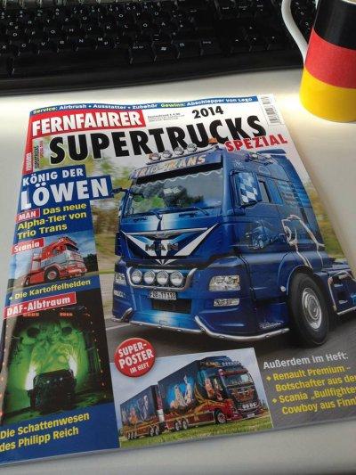 """"""" LE """" hors série annuel allemand SUPER TRUCKS dans les kiosques lundi ... HUM !!"""