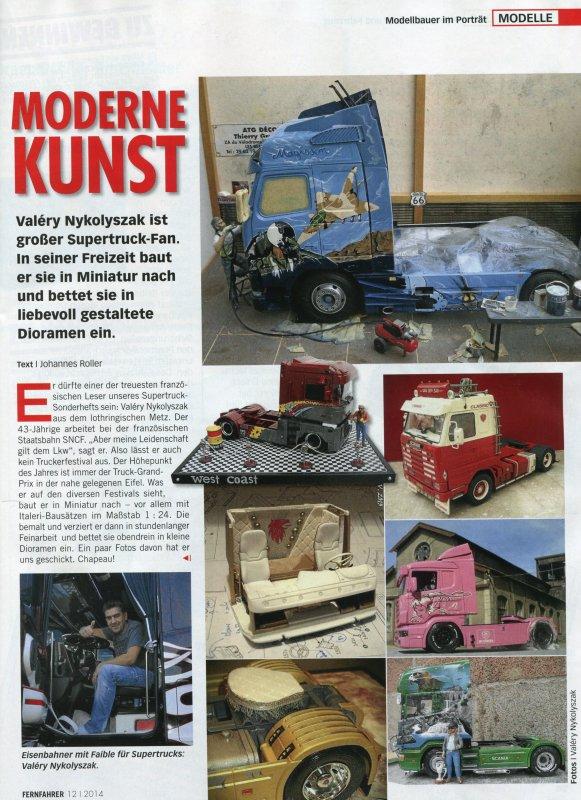 Ce mois ci dans le magazine allemand Fernfahrer ... gut  !