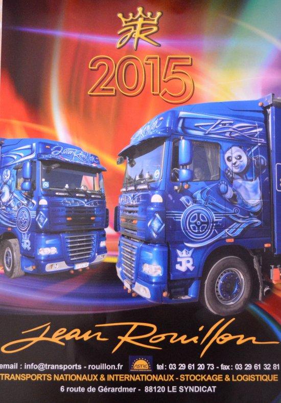 Le calendrier 2015 des transports Rouillon est arrivé !