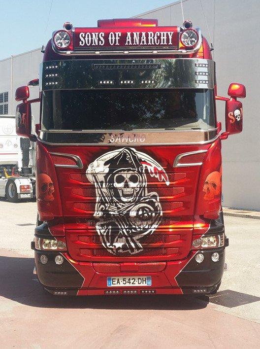 "Le petit dernier des transports Gastaldi / Scania "" Sons of Anarchy """