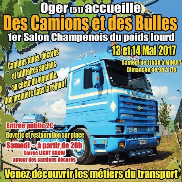 Week-end prochain : 1ère expo camions à Oger (51) ... présent !