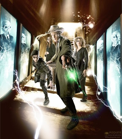 The Doctor with his friends
