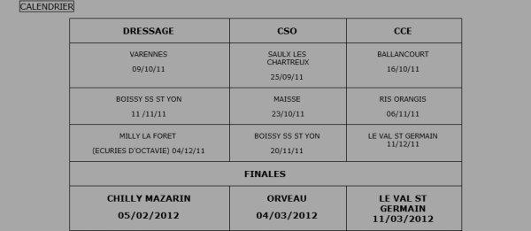 CHALLENGE EQUITOUR ESSONNE 2011 .♥