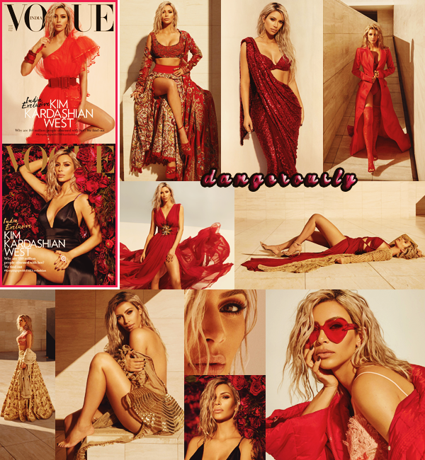 . Photoshoot Magazine   //  Kim Kardashian W. pour le VOGUE Inde édition Mars 2018. Photographiée par Greg Swales, j'aime beaucoup les clichés. Ils sont classes et très élégants. De quoi fermer la bouche des haters. Top !