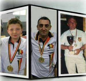 MARCHANDISE 3 générations de champions : André,Joël,Beurdy.