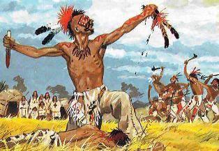 La prise du scalp dans les guerres tribales