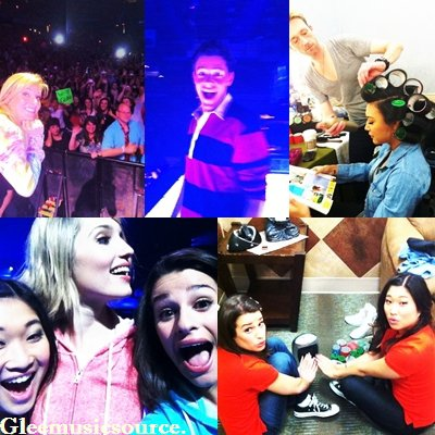 06.06.11 Photos: Le Glee Cast poste des photos pendant le GleeLive!