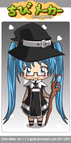 Miku sorcière (spécial Haloween)