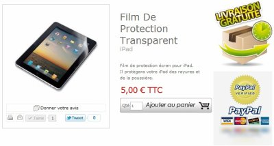 Film De Protection Transparent iPad