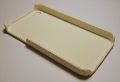 Coque Rigide Leather Blanche iPhone 4