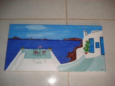 Vue romantique sur la mer