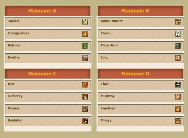 Compo des equipes du goultarminator de Maimane!!! En EXCLU!