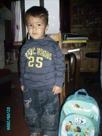 mon fils  jtm mon poulliou il avait 4 ans