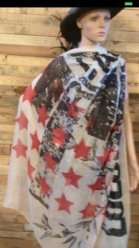 Vends écharpe «drapeau américain»