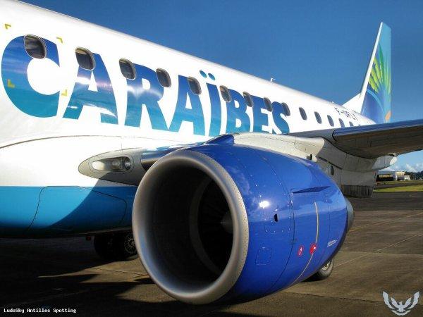 Embraer 190 F-OSUD quitte la flotte Aircaraibes