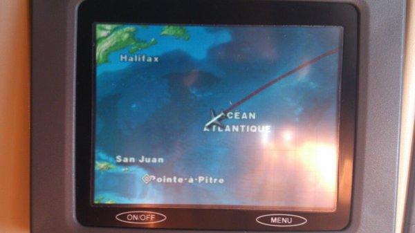Dans l'avion direction Guadeloupe