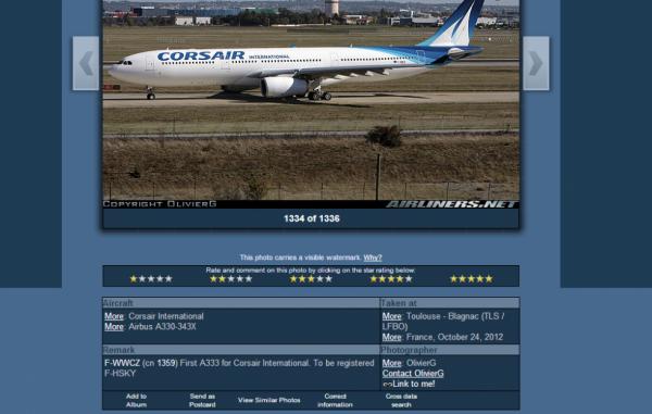 Corsair-International Airbus a33-343