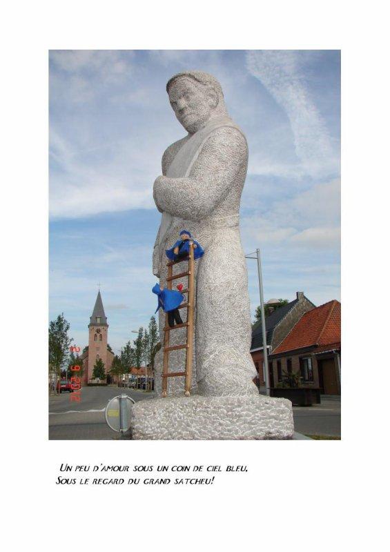 La statue du satcheu!