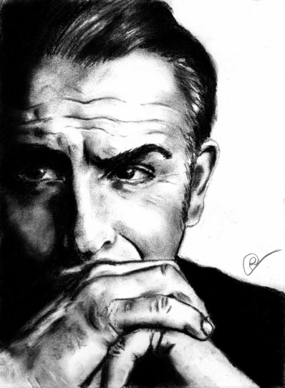 Jean Dujardin - Fusain - 01/02/2012